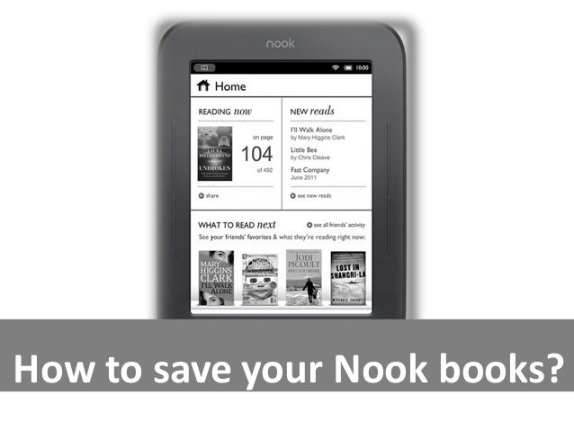 How to save your Nook books?