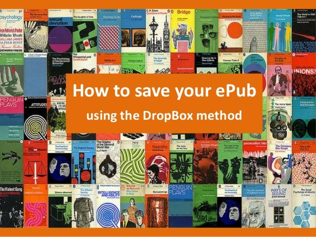 How to save your ePubusing the DropBox method