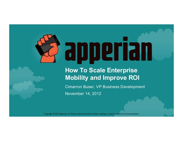 How to scale enterprise mobility and improve roi