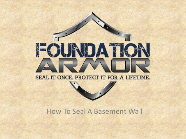 how to seal a basement wall