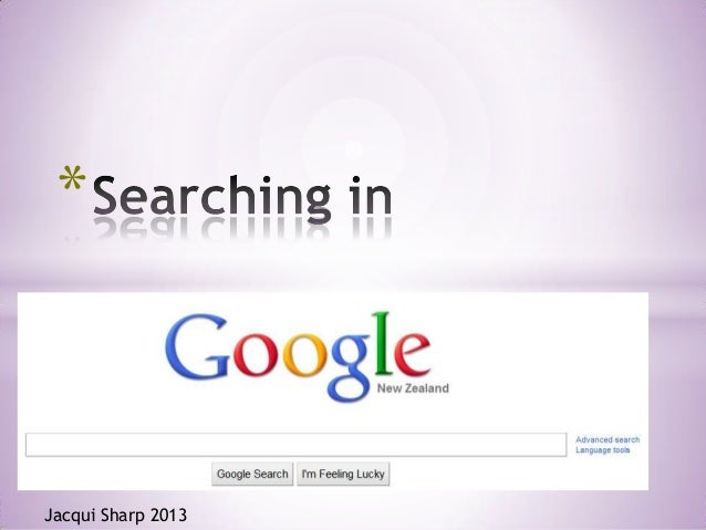 How to search in Google April 2013