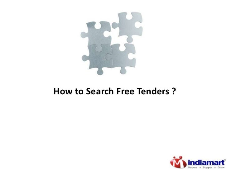 How to search free tenders ? Tenders.IndiaMART.com