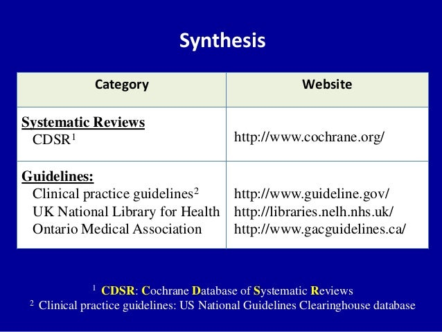 INTRODUCTION TO SYSTEMATIC REVIEWS JENNIFER A  LYON  MS  MLIS