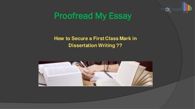 Proofreading Essays