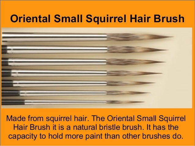 Brush Suitable For Thin Paint