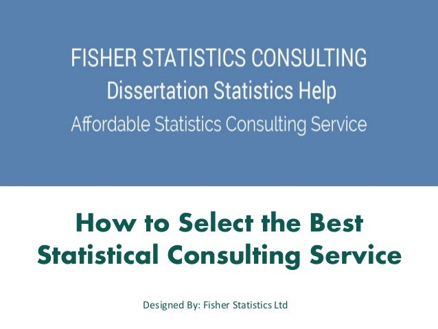 Statistics consulting