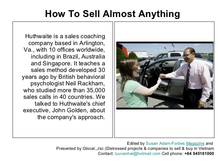 How to sell almost anything