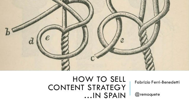 How to Sell Content Strategy... in Spain