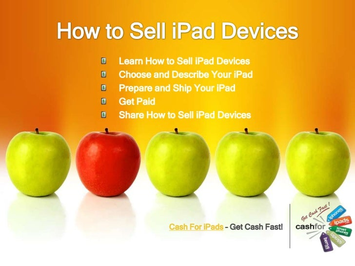 How to sell i pad devices