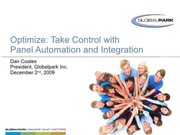 "OPTIMIZE:AUTOMATE & INTEGRATE YOUR PANEL <br />5 of 5 // PANEL COMMUNITY ""HOW TO"" SERIES<br />"
