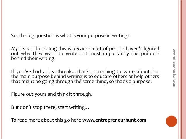 What to write in my blog