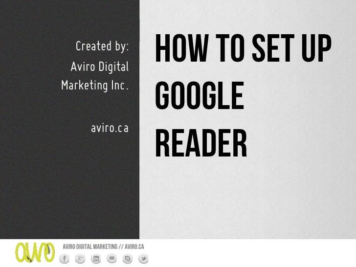 Created by: Aviro Digital                                      How to set upMarketing Inc.                                ...