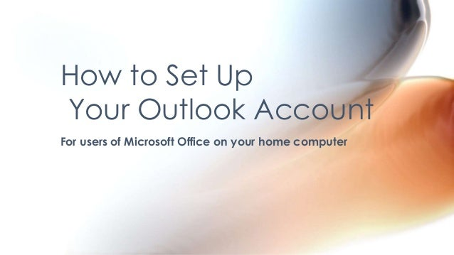 How to set up outlook account