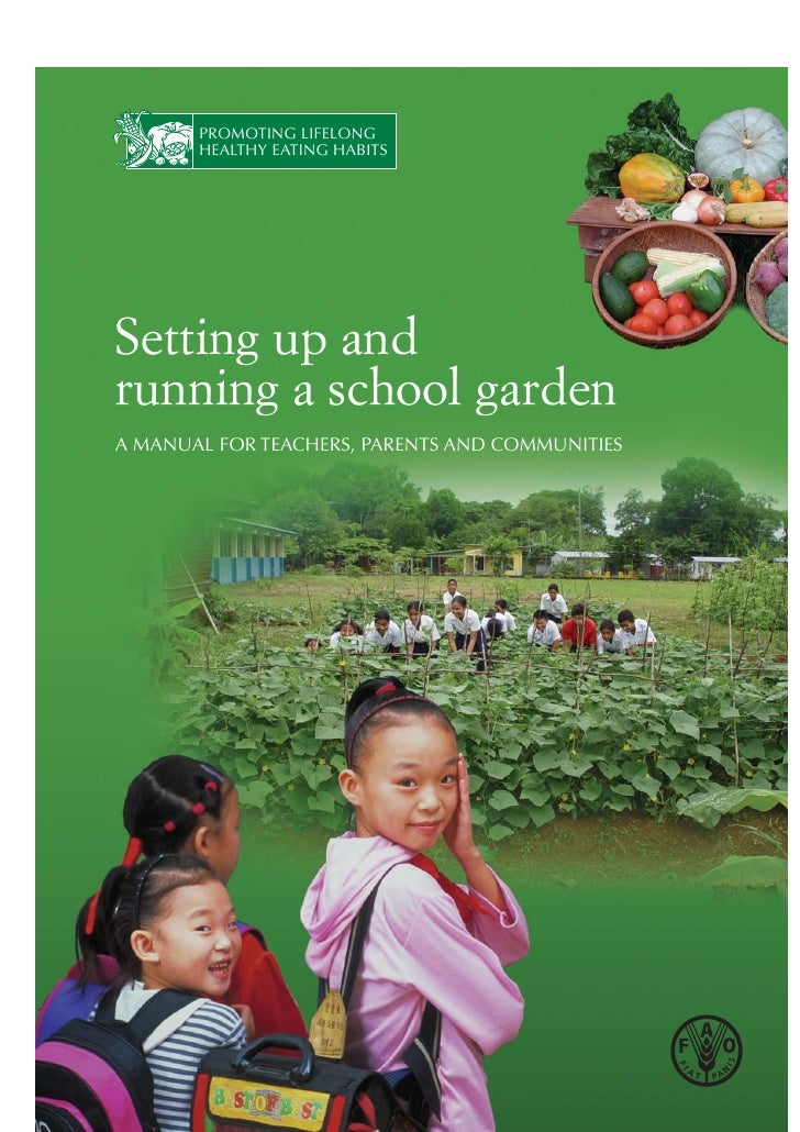 PROMOTING LIFELONG       HEALTHY EATING HABITSSetting up andrunning a school gardenA MANUAL FOR TEACHERS, PARENTS AND COMM...