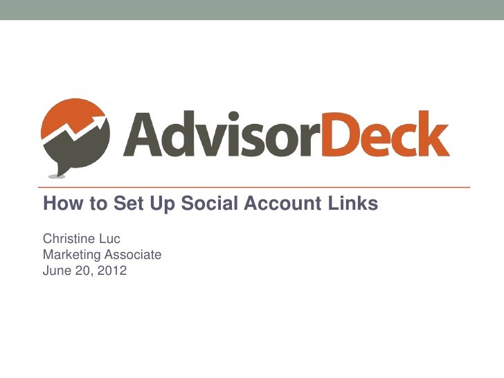 How to Set Up Social Account Links