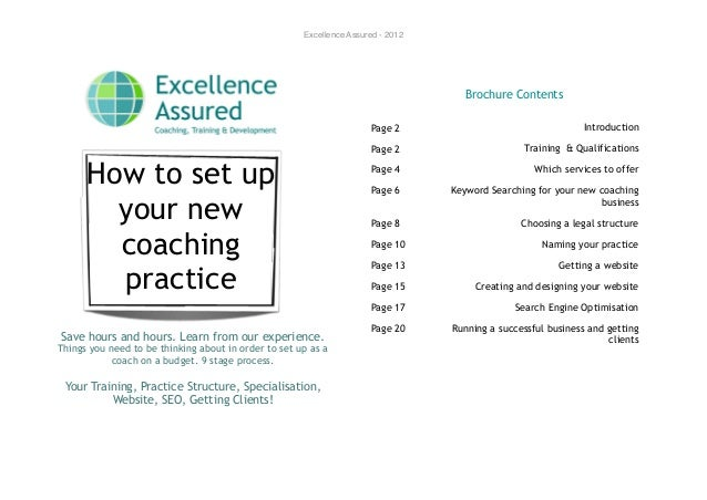 Excellence Assured - 2012                                                                                     Brochure Con...