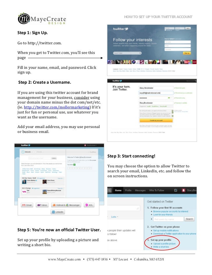 How to set up your twitter account
