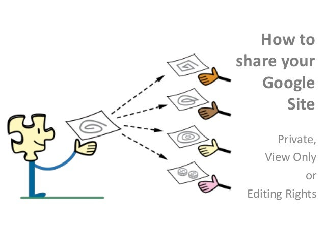 How to share your google site