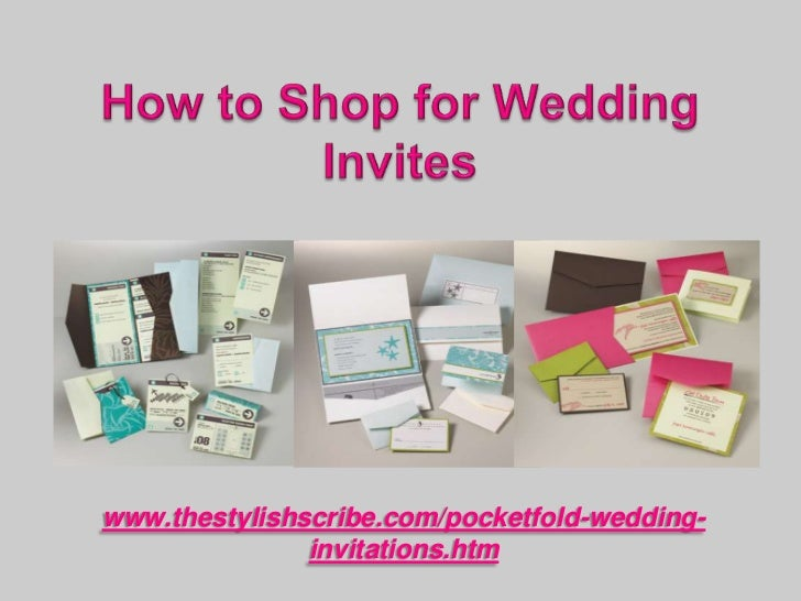 How to shop for wedding invites