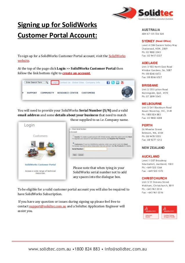 How to sign up for a SolidWorks customer portal account