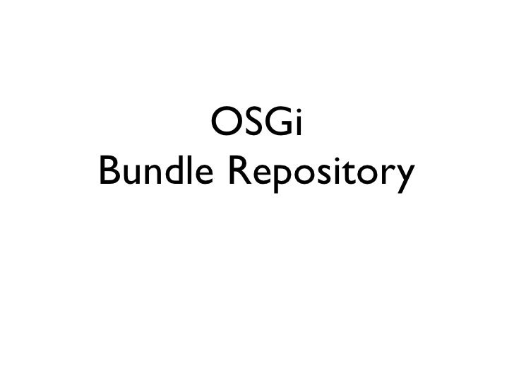 OSGiBundle Repository