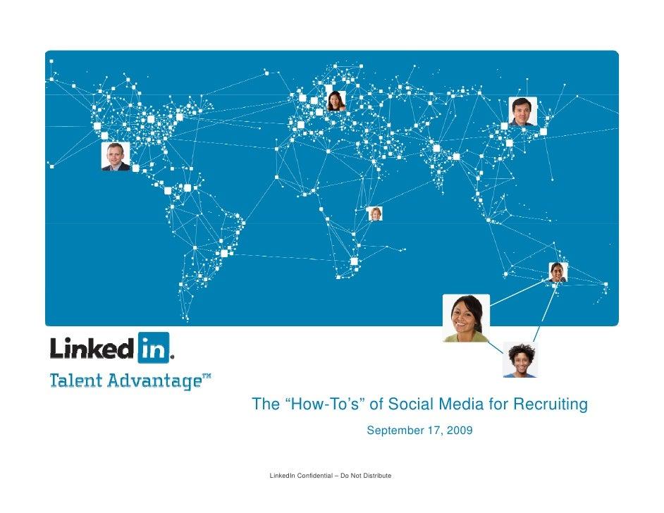 How Tos Of Social Recruiting   Linkedin