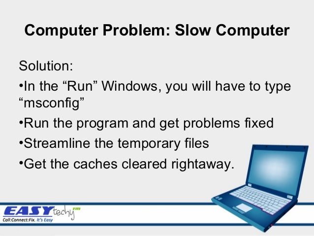 How to solve computer slow problem