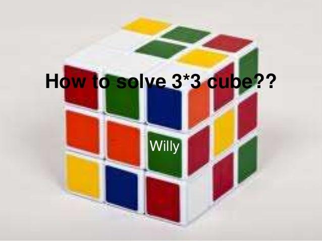 how to solve a rubixcub