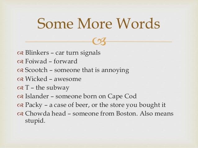 How To Speak Bostonian