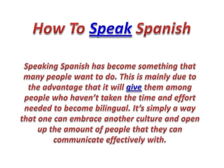 how to say talk in spanish