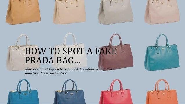 how to tell a fake prada