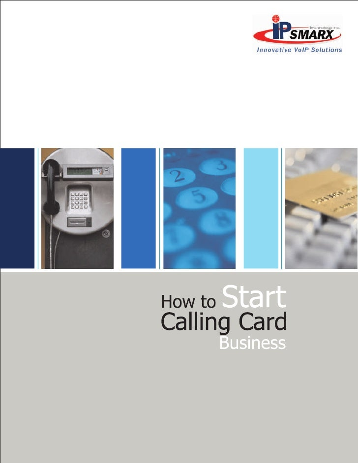 How to start a calling card business guide for Business calling cards