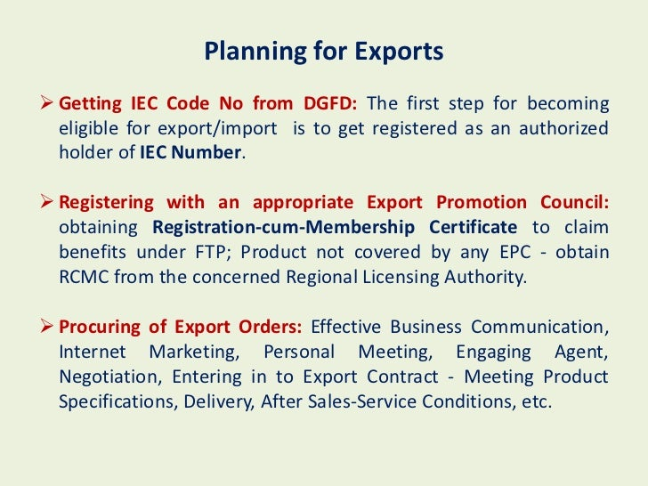 Import business plan