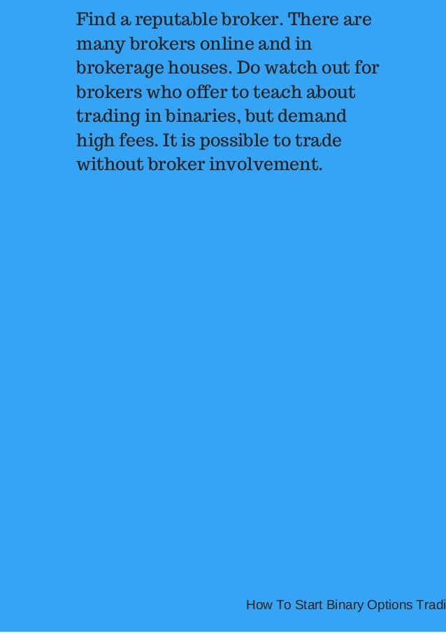 reputable binary options trading brokers