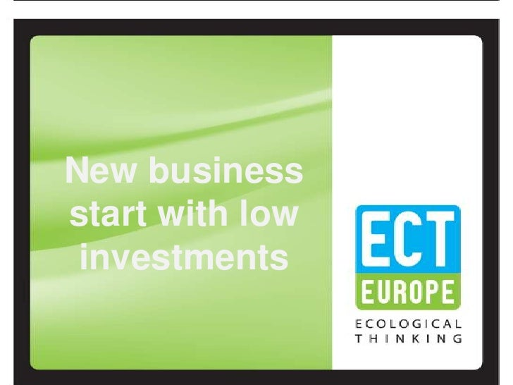 New businessstart with low investments