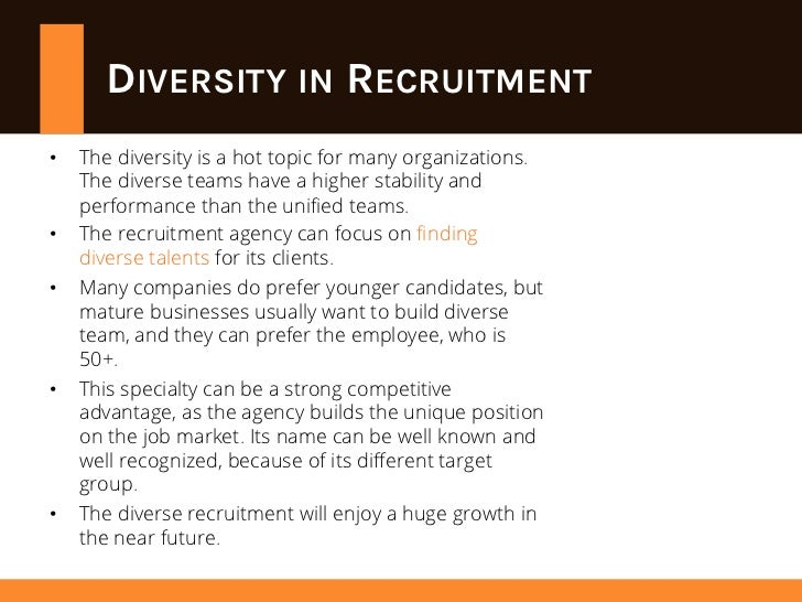 Diversity recruiting strategy group