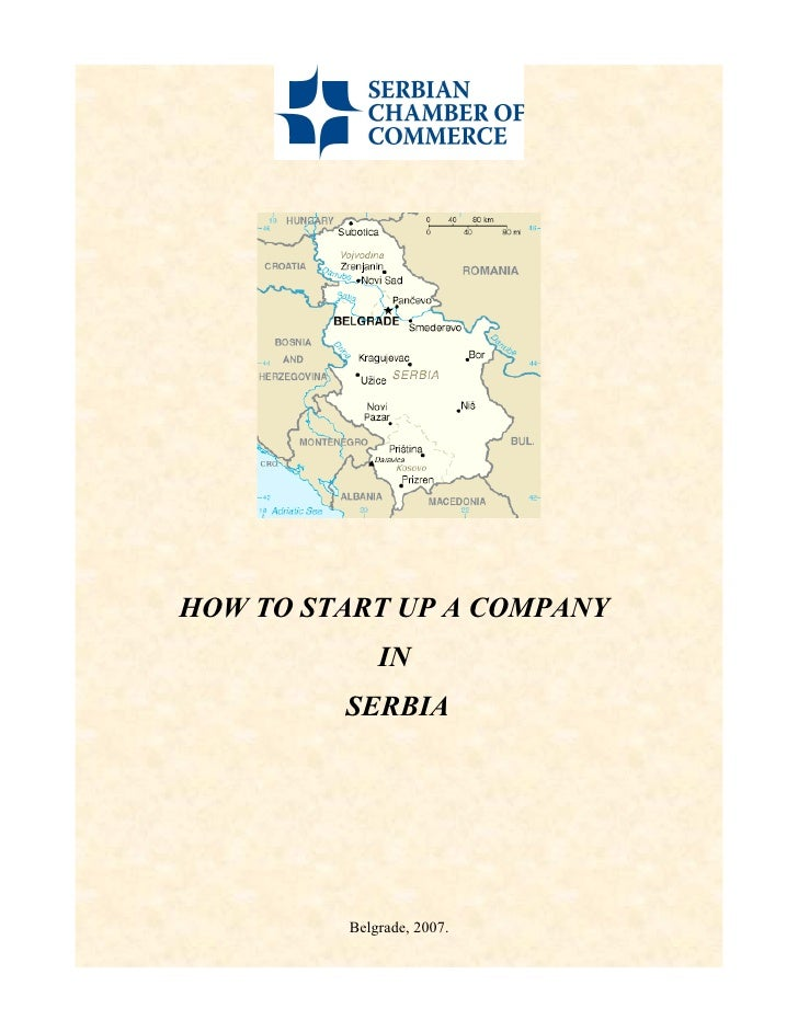 How To Start Up A Company In Serbia
