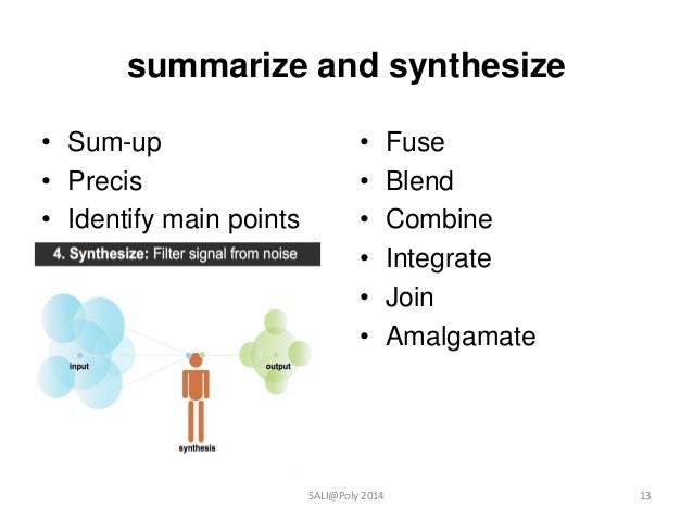 Synthesize literature