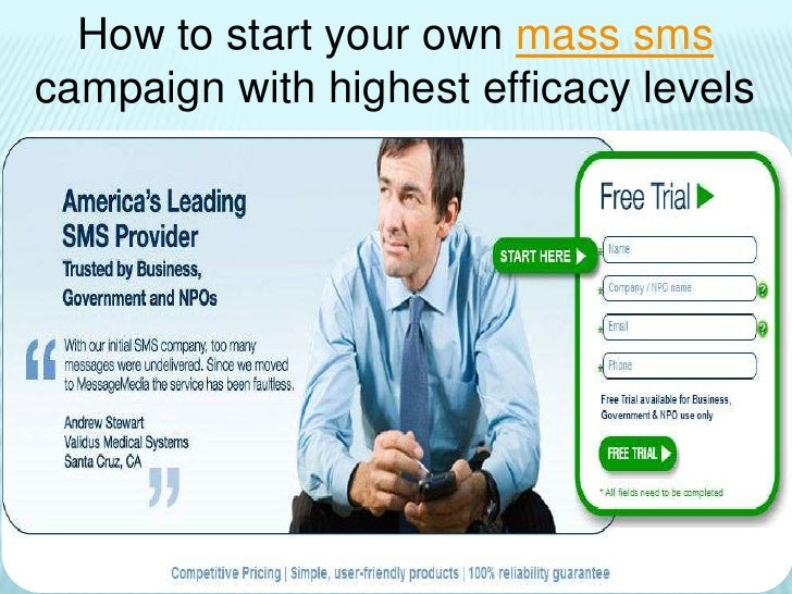 How to start your own mass sms campaign with highest efficacy levels <br />