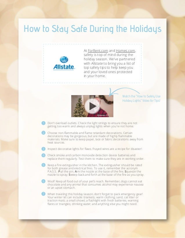 How to Stay Safe During the Holidays At ForRent.com and Homes.com, safety is top of mind during the holiday season. We've ...