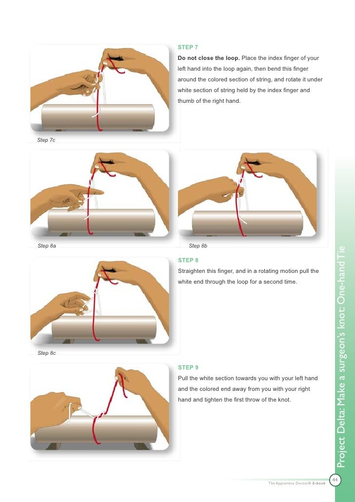 pictures How to Tie a Square Knot