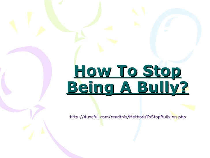 brooks how to stop a bully