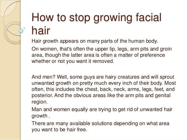 How To Stop Growing Facial Hair