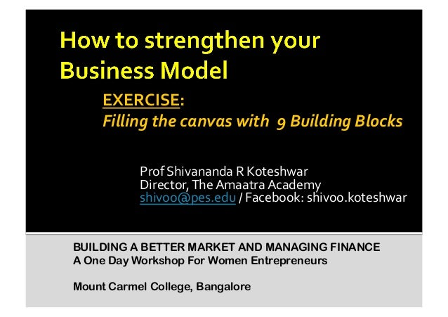 Exercise on How to strengthen your business model?