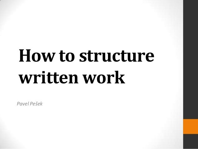 How can I put written work on the computer?
