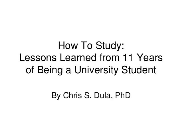 How to study phd