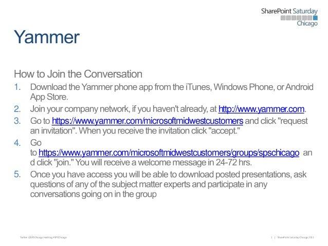 1. 2. 3.  http://www.yammer.com https://www.yammer.com/microsoftmidwestcustomers  4. https://www.yammer.com/microsoftmidwe...