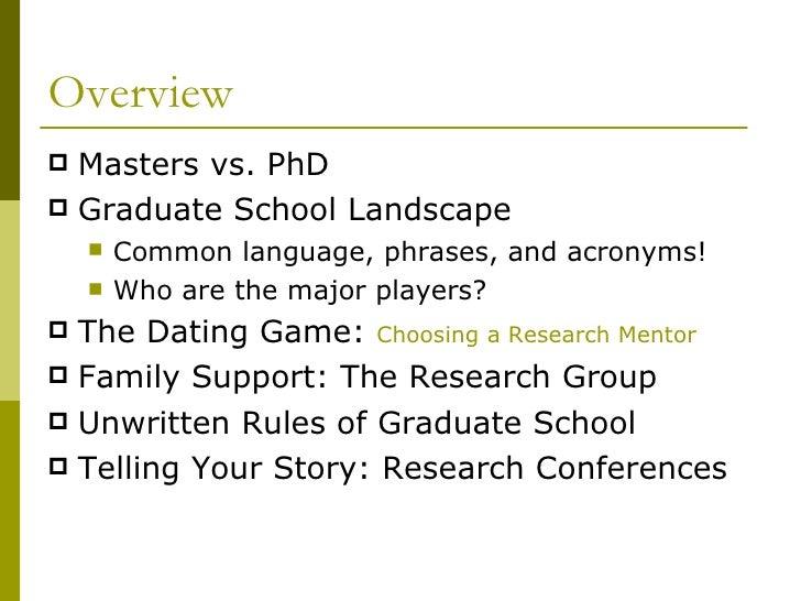Masters vs graduate degree