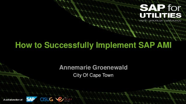 A collaboration of: How to Successfully Implement SAP AMI Annemarie Groenewald City Of Cape Town