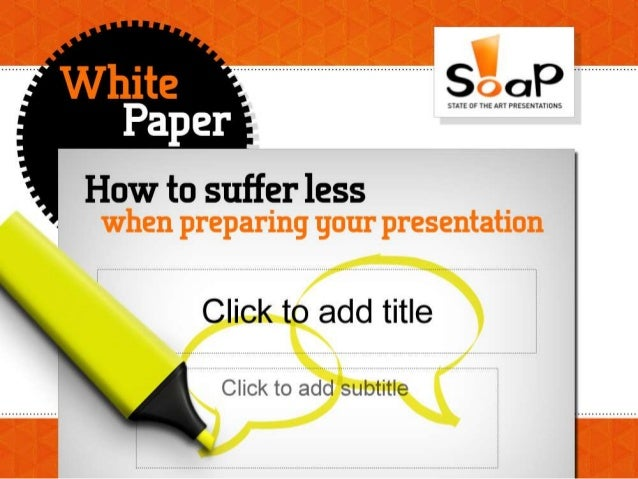 How to suffer less when preparing your presentation